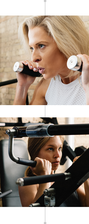 Women weight training at Discover Strength